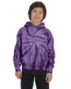 Spider Purple Youth 8.5 oz. Tie-Dyed Pullover Hood