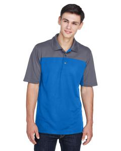 Tru Royal/ Crbn Mens Balance Colorblock Performance Pique Polo