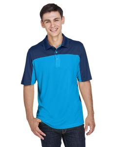 Elc Blu/ Cl Nvy Mens Balance Colorblock Performance Pique Polo