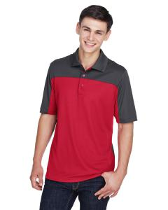 Classc Red/ Crbn Men's Balance Colorblock Performance Pique Polo