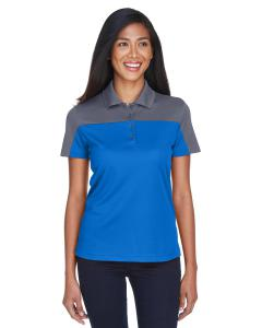 Tru Royal/ Crbn Ladies' Balance Colorblock Performance Pique Polo