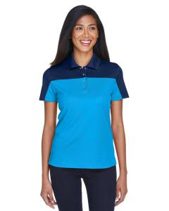 Elc Blu/ Cl Nvy Ladies' Balance Colorblock Performance Pique Polo