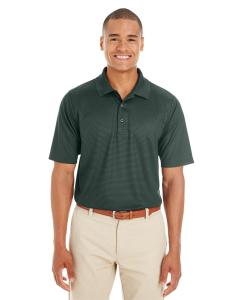 Forest/ Carbon Men's Express Microstripe Performance Pique Polo