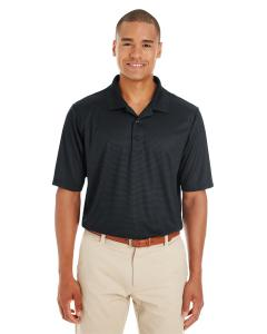 Black/ Carbon Men's Express Microstripe Performance Pique Polo