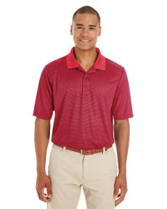 Classc Red/ Crbn Men's Express Microstripe Performance Pique Polo