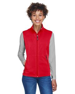 Classic Red Ladies' Cruise Two-Layer Fleece Bonded SoftShell Vest