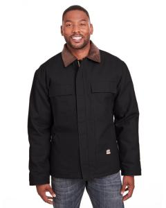Black Mens Heritage Cotton Duck Chore Jacket