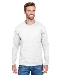 White Adult Long-Sleeve Ringspun T-Shirt