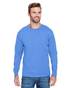 Light Blue Adult Long-Sleeve Ringspun T-Shirt