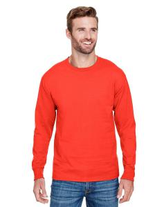 Orange Adult Long-Sleeve Ringspun T-Shirt