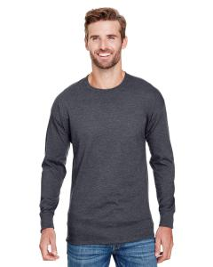 Charcoal Heather Adult Long-Sleeve Ringspun T-Shirt