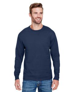 Navy Adult Long-Sleeve Ringspun T-Shirt