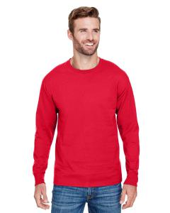 Athletic Red Adult Long-Sleeve Ringspun T-Shirt