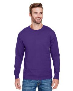 Ravens Purple Adult Long-Sleeve Ringspun T-Shirt