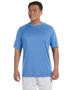 Light Blue Adult 4.1 oz. Double Dry® Interlock T-Shirt
