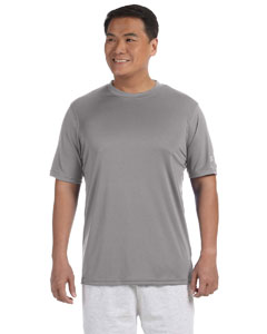 Stone Gray Adult 4.1 oz. Double Dry® Interlock T-Shirt