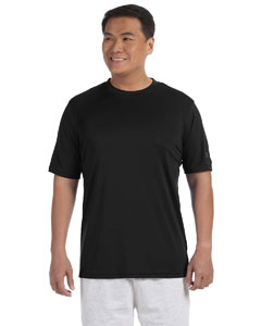 Black Adult 4.1 oz. Double Dry® Interlock T-Shirt