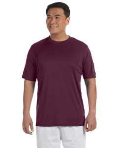 Maroon Adult 4.1 oz. Double Dry® Interlock T-Shirt