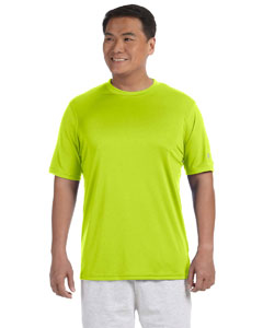 Safety Green Adult 4.1 oz. Double Dry® Interlock T-Shirt