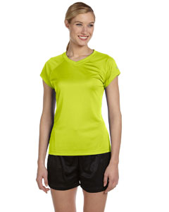 Safety Green Women's 4 oz. Double Dry® Performance T-Shirt