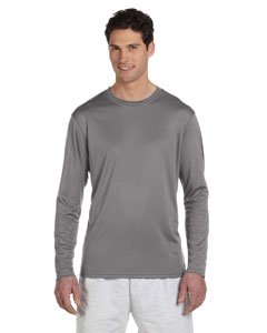 Stone Gray 4 oz. Double Dry® Performance Long-Sleeve T-Shirt