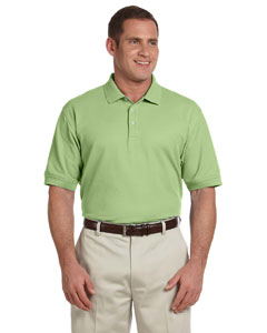 Lime Men's Pima Piqué Short-Sleeve Polo