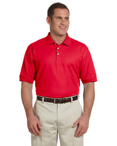 Red Men's Pima Piqué Short-Sleeve Polo
