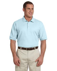 Crystal Blue Men's Pima Piqué Short-Sleeve Polo