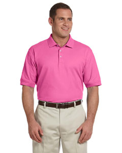 Charity Pink Men's Pima Piqué Short-Sleeve Polo