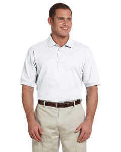 White Men's Tall Pima Piqué Short-Sleeve Polo