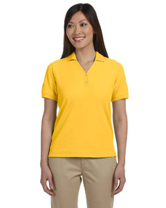 Sunray Yellow Women's Pima Piqué Short-Sleeve Y-Collar Polo