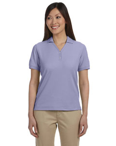 Lavender Women's Pima Piqué Short-Sleeve Y-Collar Polo