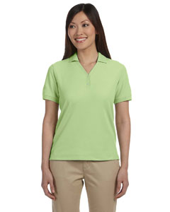 Lime Women's Pima Piqué Short-Sleeve Y-Collar Polo