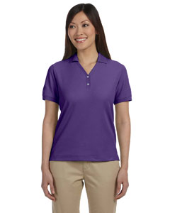 Purple Women's Pima Piqué Short-Sleeve Y-Collar Polo