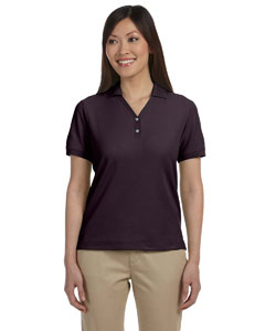 Espresso Women's Pima Piqué Short-Sleeve Y-Collar Polo