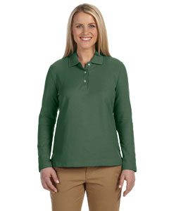 Dill Women's Pima Piqué Long-Sleeve Polo
