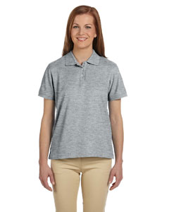 Grey Heather Women's Pima Piqué Short-Sleeve Polo