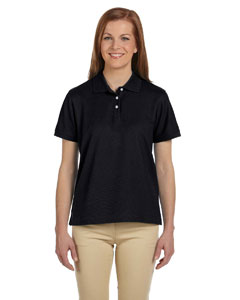 Black Women's Pima Piqué Short-Sleeve Polo