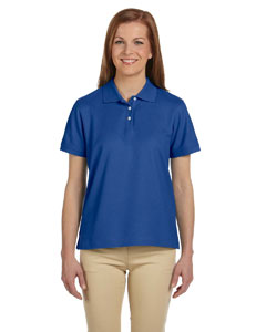 True Royal Women's Pima Piqué Short-Sleeve Polo