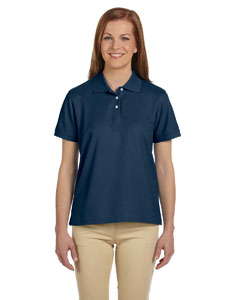 Navy Women's Pima Piqué Short-Sleeve Polo