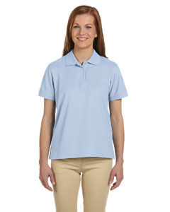 Light Blue Women's Pima Piqué Short-Sleeve Polo