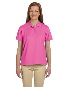 Charity Pink Women's Pima Piqué Short-Sleeve Polo