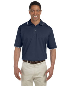 Navy/white Men's Tipped Perfect Pima Interlock Polo