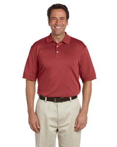 Rust Men's Solid Perfect Pima Interlock Polo