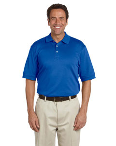 French Blue Men's Solid Perfect Pima Interlock Polo