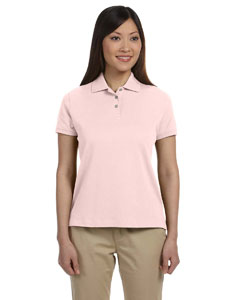 Pink Women's Solid Perfect Pima Interlock Polo