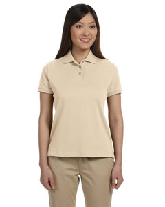Stone Women's Solid Perfect Pima Interlock Polo