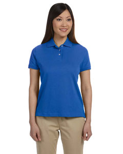 French Blue Women's Solid Perfect Pima Interlock Polo