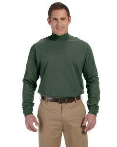 Forest Sueded Cotton Jersey Mock Turtleneck