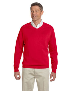 Red Men's V-Neck Sweater